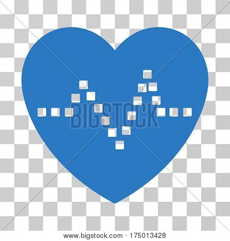 Heart Pulse icon. Vector illustration style is flat iconic symbol, smooth blue color, transparent background. Designed for web and software interfaces.