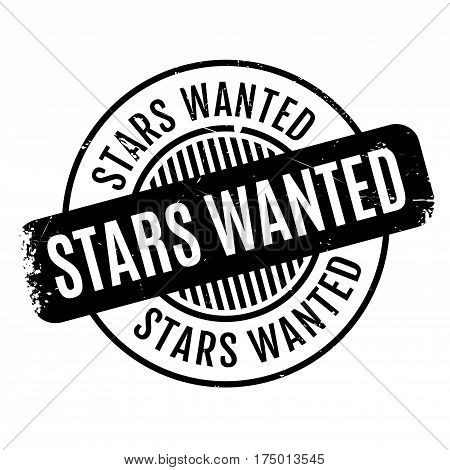 Stars Wanted rubber stamp. Grunge design with dust scratches. Effects can be easily removed for a clean, crisp look. Color is easily changed.