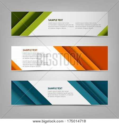 Collection banners with abstract design stripes template vector eps 10