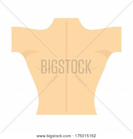 Naked human back icon isolated on white background vector illustration