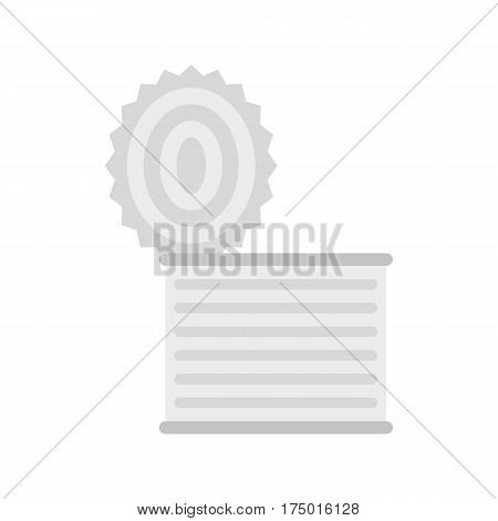 Tincan icon isolated on white background vector illustration