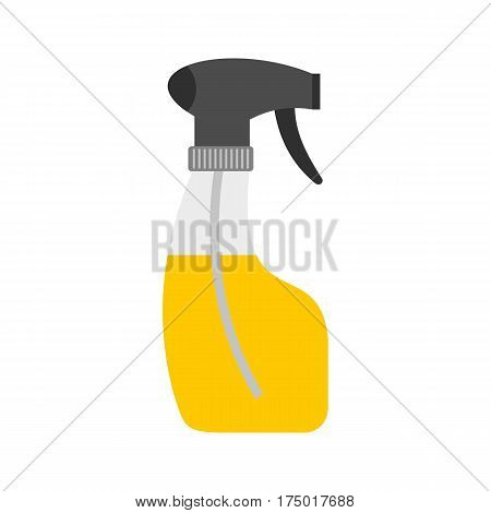Sprayer bottle icon in flat style isolated on white background vector illustration