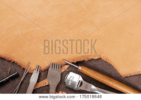 Leather Working Background