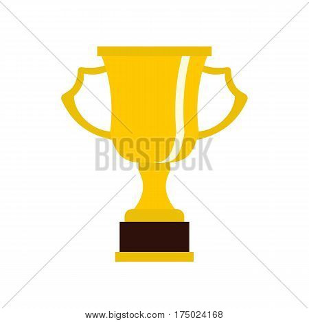 Cup for win icon in flat style isolated on white background vector illustration
