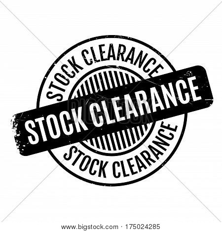 Stock Clearance rubber stamp. Grunge design with dust scratches. Effects can be easily removed for a clean, crisp look. Color is easily changed.