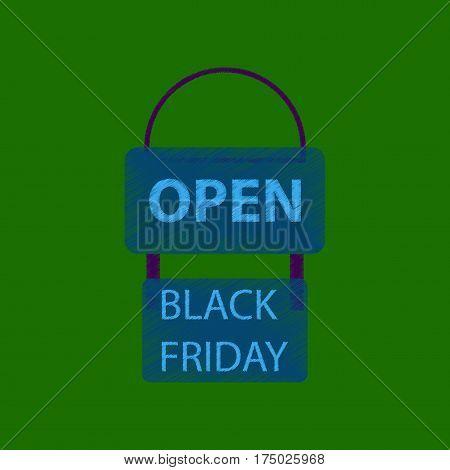 flat shading style icon signboard black friday