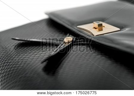 Women's Leather Bag On A White Background14
