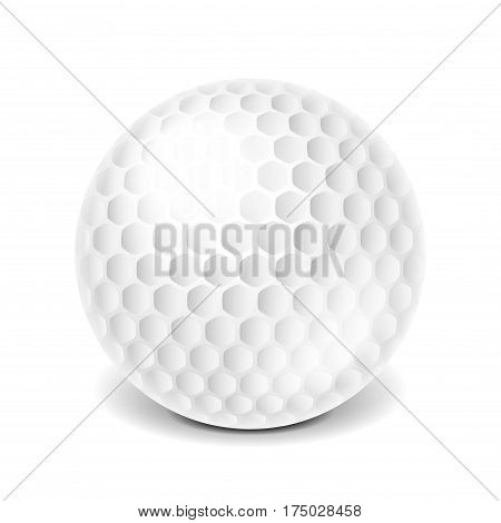Golf ball isolated on white photo-realistic vector illustration
