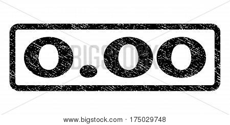 0.00 watermark stamp. Text caption inside rounded rectangle frame with grunge design style. Rubber seal stamp with unclean texture. Vector black ink imprint on a white background.