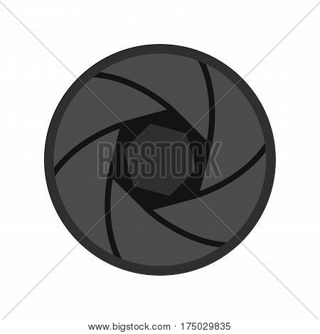 Professional objective icon isolated on white background vector illustration
