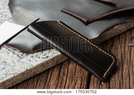 Black Leather Scabbard