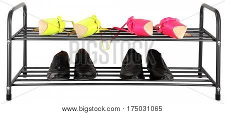 Shoe rack holder for two pairs couples
