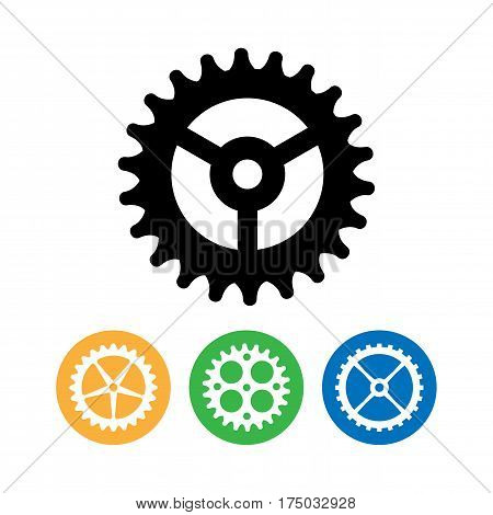 Vector Clock Gears. Flat Vector Clock Gears. Clock Mechanism Icons Isolated On White