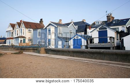 pretty colorful houses in Whitstable, Kent, UK