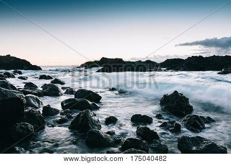 Sunset At Rocky Coast Of Tenerife