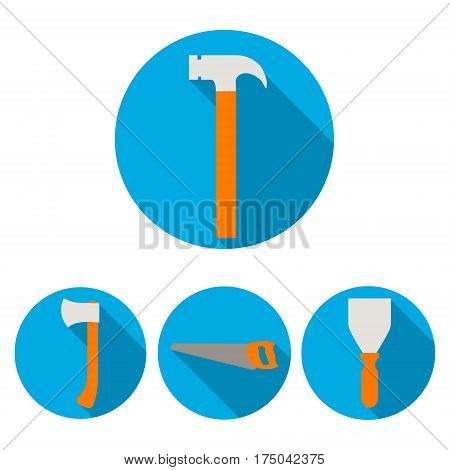 Set building tools a new vector illustration background