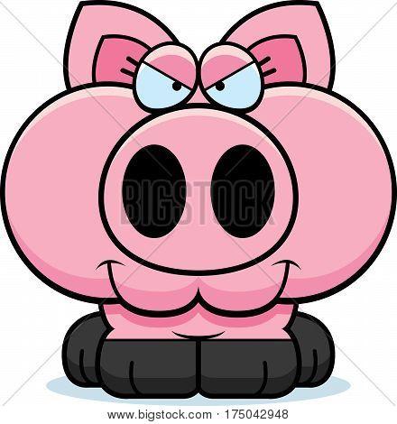 Cartoon Devious Pig