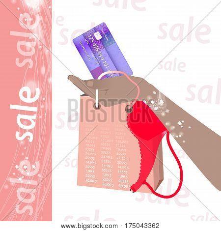 Concept Of Buying Cashless Settlement