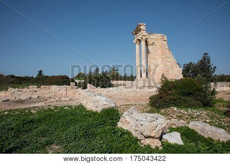 Temple of Apollo near Kourion Cyprus Europe