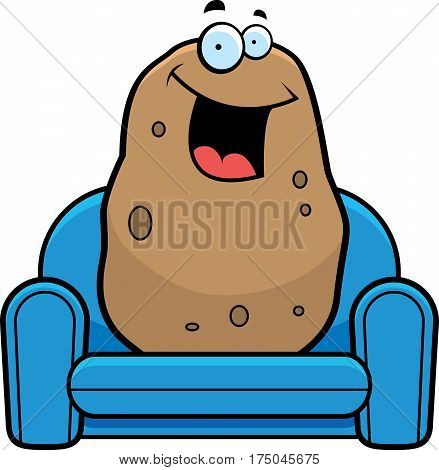 A cartoon illustration of a couch potato.