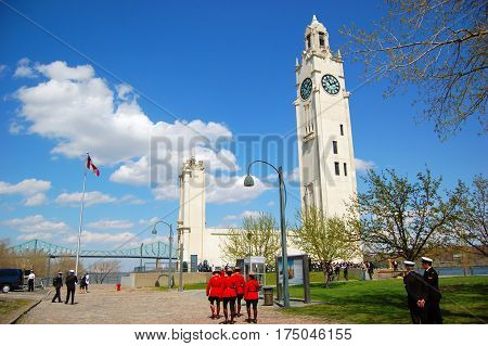 MONTREAL - May 3, 2009: Montreal Clock Tower, also called The Sailors' Memorial Clock, is located at Old Port of Montreal, Quebec, Canada.