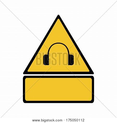 High noise levels sign vector design isolated on white background