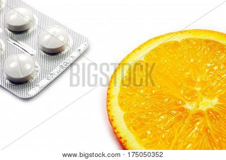 Wise choice. Natural orange fruit as an alternative to chemical medicine.