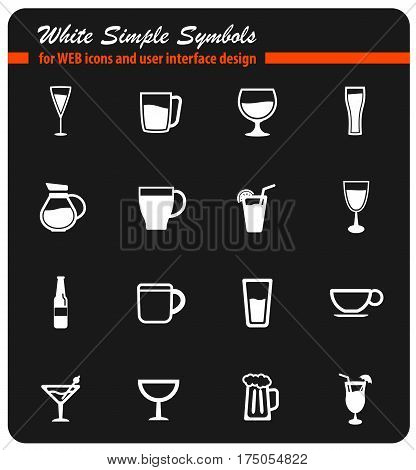 Food and kitchen simple icons for web