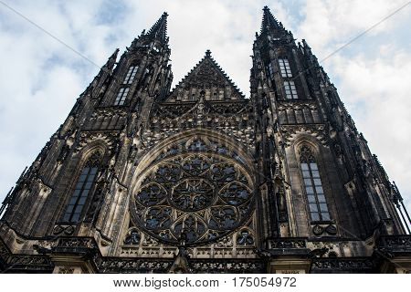 The Old Saint Vitus Cathedral in Prague Chezch Republic