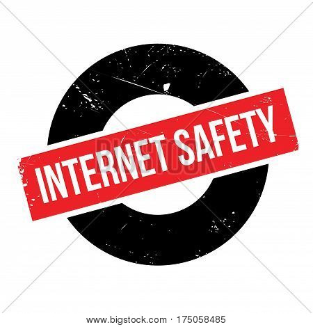Internet Safety rubber stamp. Grunge design with dust scratches. Effects can be easily removed for a clean, crisp look. Color is easily changed.
