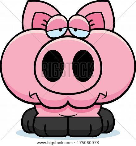 Cartoon Sad Pig