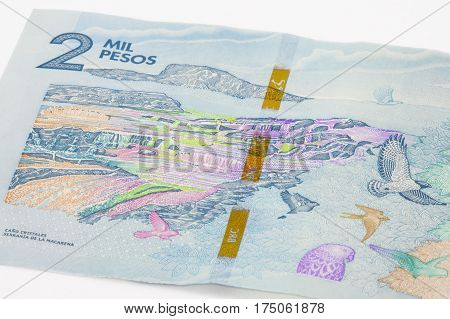 Two Thousand Colombian Pesos Bill Issued on 2016