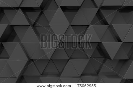3d surface from extruded triangles, black color