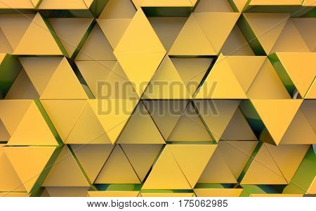 Background from extruded triangles, yellow color
