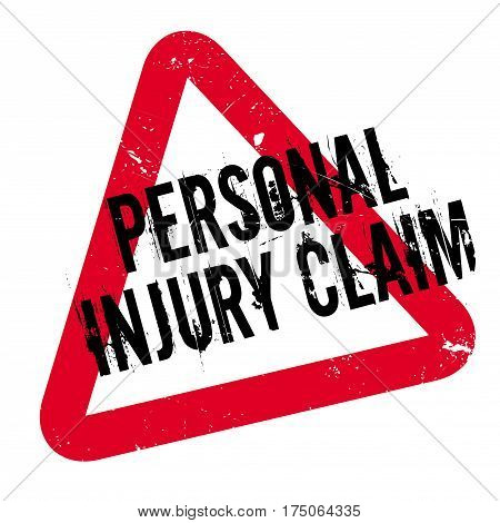 Personal Injury Claim rubber stamp. Grunge design with dust scratches. Effects can be easily removed for a clean, crisp look. Color is easily changed.
