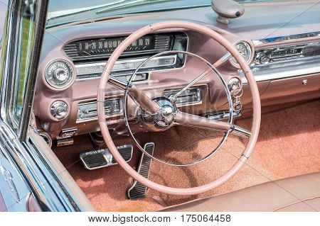 Close View Of A Classic Car Dashboard