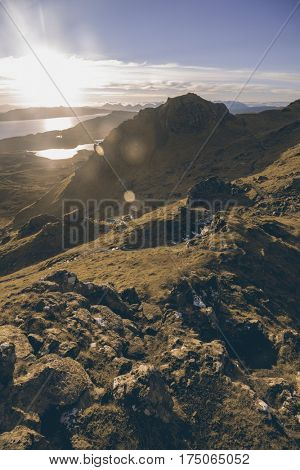 View from Old Man of Storr, Isle of Skye, Scottish Highlands