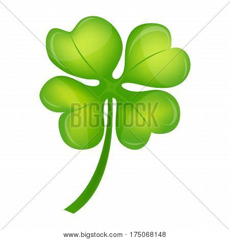 Four Leaf Clover on St. Patrick's Day vector illustration