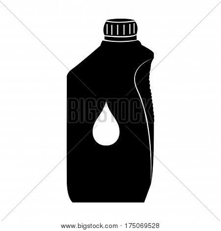 Isolated oil gallon on a white background, Vector illustration