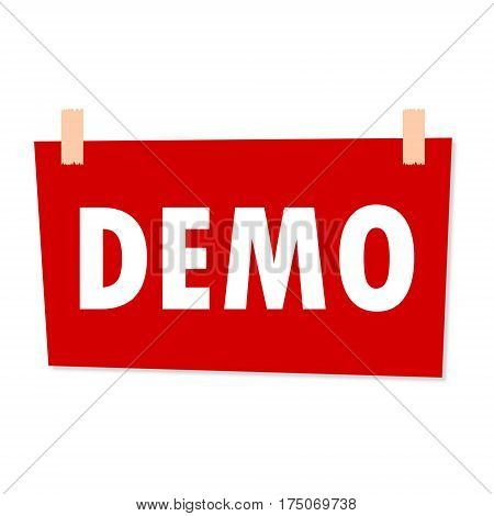 Demo Sign - illustration on white background
