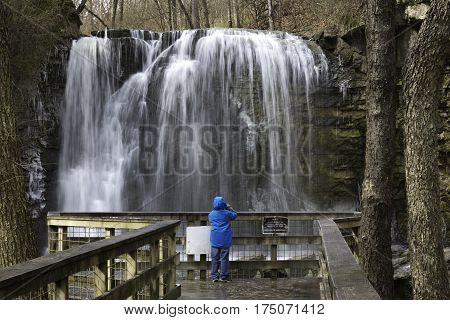 Hayden Falls part of the Griggs Reservoir located on the Scioto River in Central Ohio