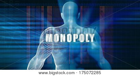 Monopoly as a Futuristic Concept Abstract Background 3D Illustration Render
