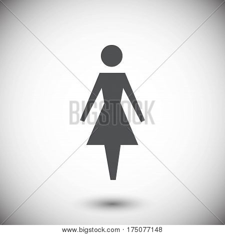 woman icon stock vector illustration flat design