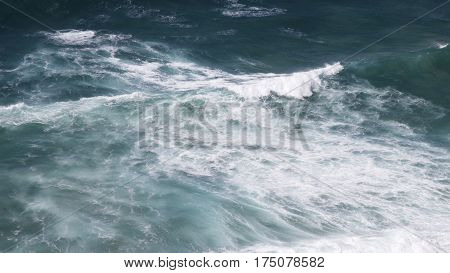 Wild waves at Merewether beach, Newcastle, NSW Australia
