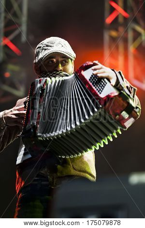 Calle 13 in live concert at the