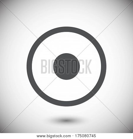 Rec Icon stock vector illustration flat design