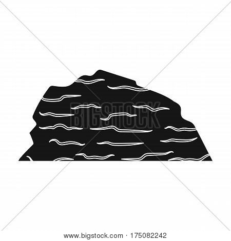 Sandy ceremony in wild west .Mountains of sand.Mountains in the desert.Different mountains single icon in black style vector symbol stock web illustration.