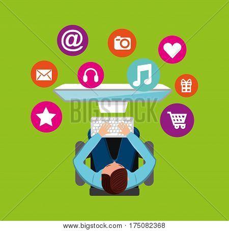 social media network icons vector illustration design