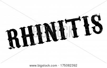 Rhinitis rubber stamp. Grunge design with dust scratches. Effects can be easily removed for a clean, crisp look. Color is easily changed.