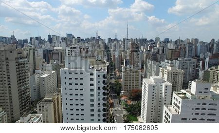 Aerial View of Skyscrapers in Sao Paulo, Brazil